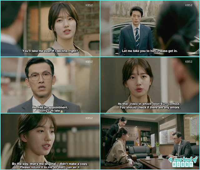 no eul gave the USB evidence to prosecutor choi  - Uncontrollably Fond - Episode 19 Review