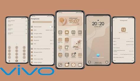 Tema Vivo: iOS 14 Aesthetic Tembus Aplikasi