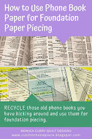 Use Phone Book Paper for Foundation Piecing - Quilting Tutorial
