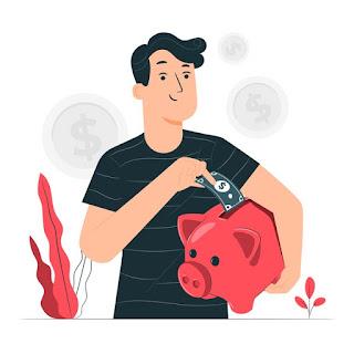 homem poupando dinheiro com faculdade a distância ead