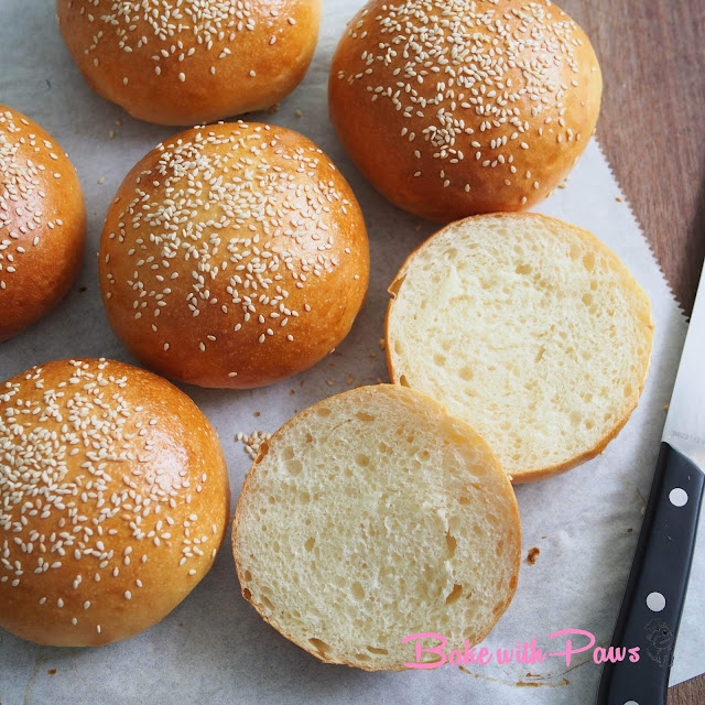 Sourdough Shokupan Burger Buns