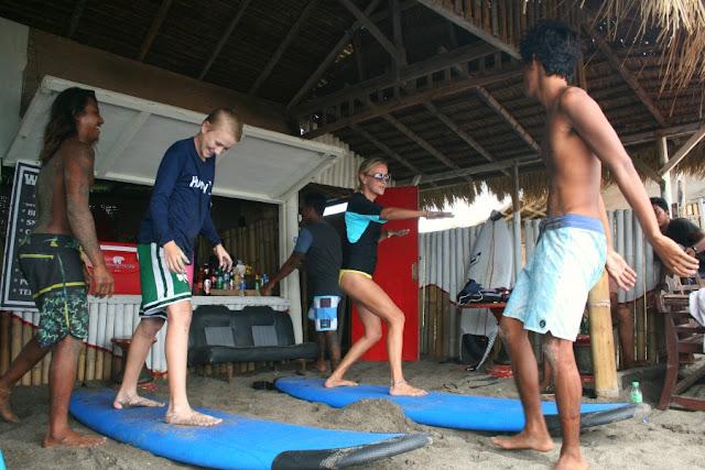 Surffing in Bali
