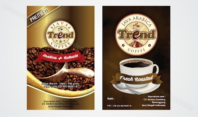 desain kemasan kecil trend kopi