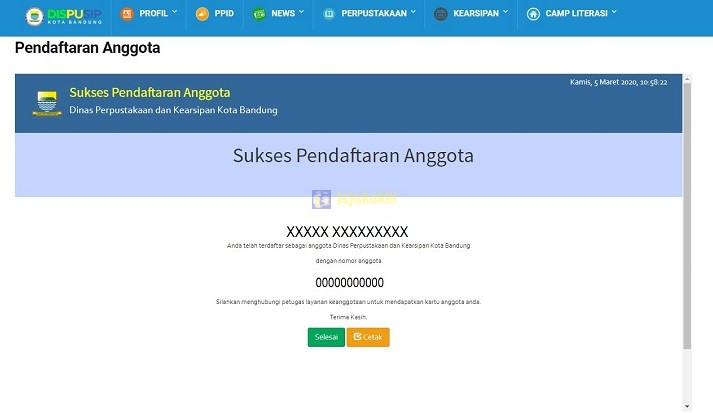 Persyaratan dan Cara Pendaftaran Anggota Dinas Perpustakaan dan Kearsipan Kota Bandung