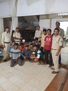 पनागर पुलिस का जुए के फड़ पर छापा, 13 जुआडी गिरफ्तार, 24 हजार 300 रूपये जप्त