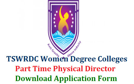 Telangana Social WelfareResidential Degree College for Women inviting Applications From eligible Women candidates in Telangana to Work as Physical Directors in Women Residential Degree Colleges as Part Time. Interested and Eligible Women can Submit Application Form at official Office Only Female qualified Physical Director's may apply to work in TSWRDCW's on Part Time basis 2019-20.Click here to Download formate tswrdc-women-physical-directors-recruitment-download-application-form