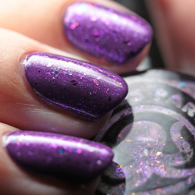 Octopus Party Nail Lacquer Hex-Girlfriend over Sally Hansen 508 Vivid Violet