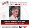 Desaparecido: Francisco Geraldo de Oliveira em Registro-SP