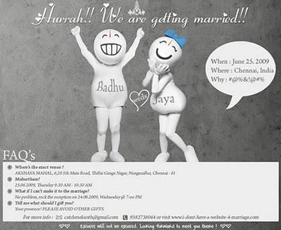 Contoh Undangan Pernikahan Unik