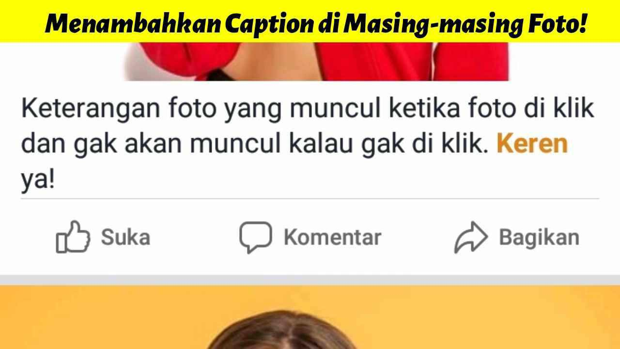 Cara menambahkan keterangan di foto Facebook