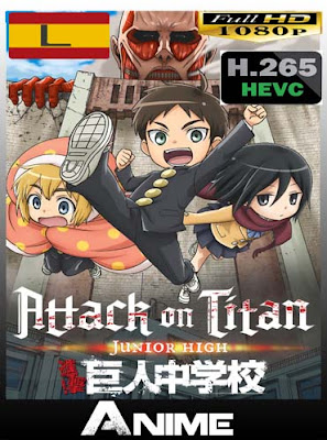 Ataque a los titanes : Junior High​ HD BDrip [1080P-x265] Castellano-Ingles-Japones [GoogleDrive]