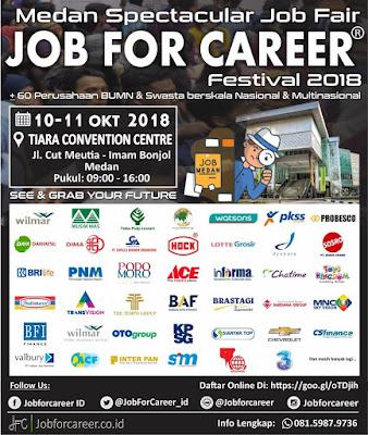 Lowongan Kerja Spectacular Job Fair Job For Career Festival 2018 Medan Maret 2021 Berita Medan Hari Ini