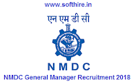 NMDC General Manager Recruitment