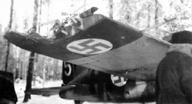 A damaged Finnish Brewster Buffalo on 24 January 1942 worldwartwo.filminspector.com