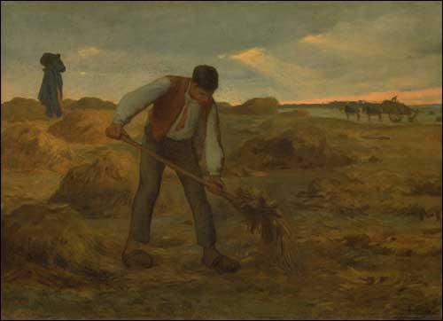 Жан Франсуа Милле - Крестьянин раскидывает навоз. 1855
