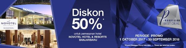 NOVOTEL Hotel Diskon 50% Khusus Pelanggan Indovision Priority