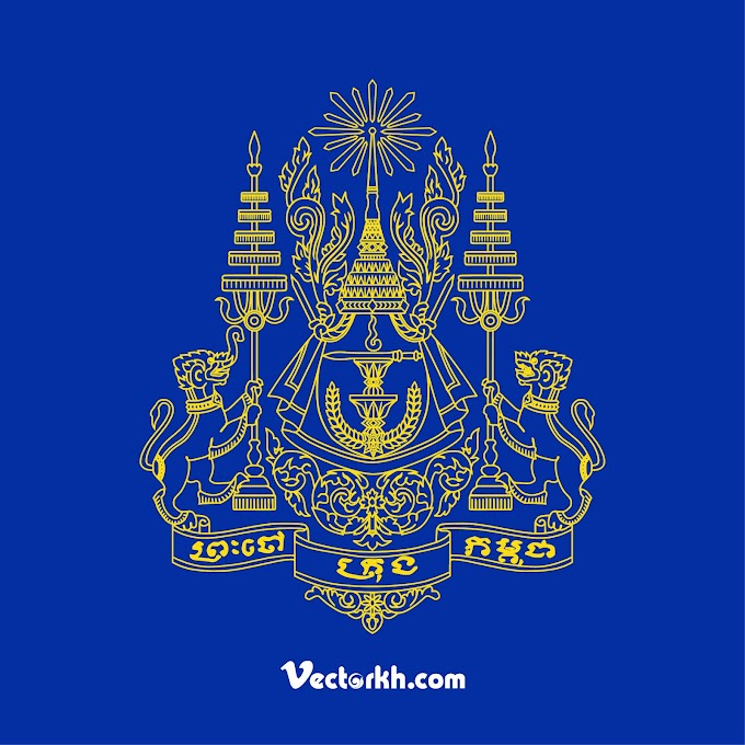 Royal Standard of the King of Cambodia Logo free vector