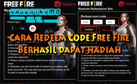 Cara Redeem Code Free Fire