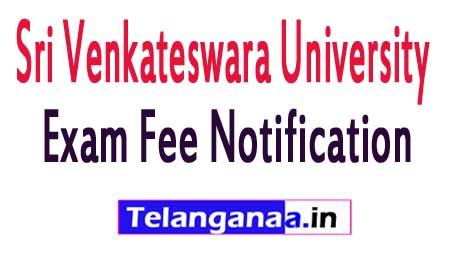 SVU UG 3rd Year Regular Exam Fee Notification 2018