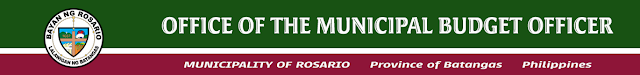 Office of the Municipal Budget Officer Rosario Batangas