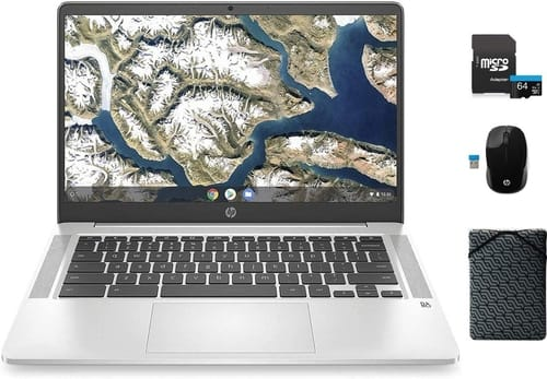 HP 14a-na0023cl-bundle Chromebook Laptop