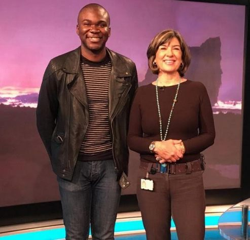 Fashola's Son Demola Meets CNN'Anchor Christiane Amanpour [Photo]