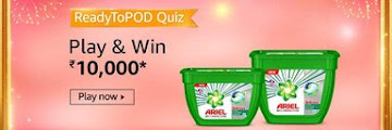 Amazon ReadyToPOD Quiz - The new Ariel 3 in 1 PODs can be used for which of these type of washing machines?