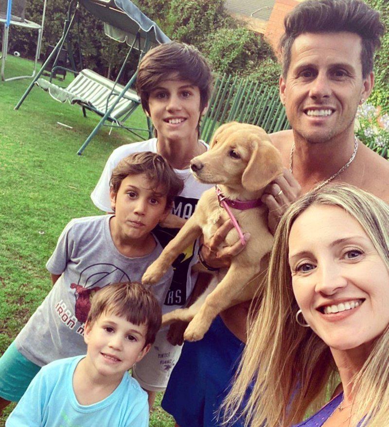 Diego Rivarola y su esposa Paula Grass