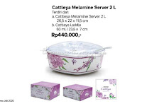 Cattleya Melamine Server 2L Tupperware Promo Juli 2020