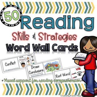 Visual Reading Word Wall Cards