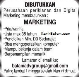 Lowongan Kerja PT. BATAM ADV Group