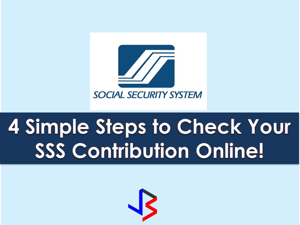 4 easy steps to check your sss contribution online sciox Gallery