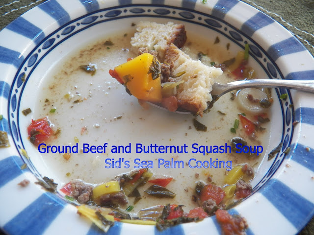 Ground Beef and Butternut Squash Soup