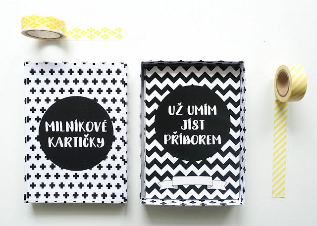 milníkové kartičky pro batolata