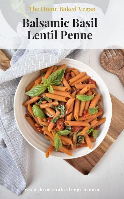 Balsamic Basil Lentil Pasta Recipe
