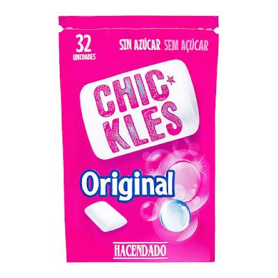 Chicles sin azúcar en grageas sabor original Chic-Kles Hacendado