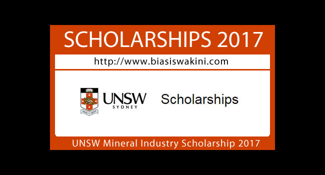 UNSW Mineral Industry Scholarship 2017
