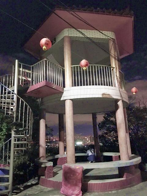 泰山夜景~泰山私房景點、瓊仔湖福德宮