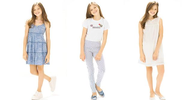 Moda primavera verano 2018 ropa para niñas. Núcleo Nenas vestidos, faldas, blusas, shorts y pantalones primavera verano 2018.