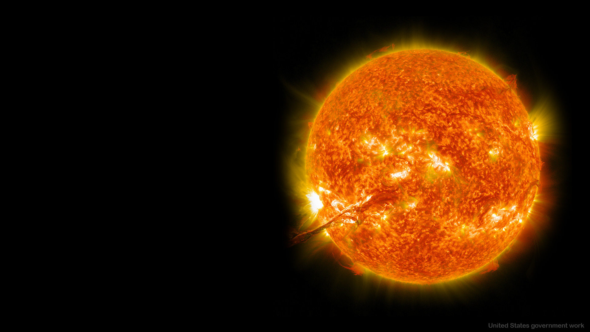 Sun background for Google Slides Themes and Presentations