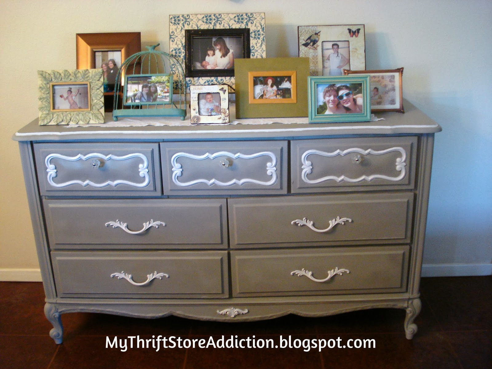 What Was I Thinking?! mythriftstoreaddiction.blogspot.com Give a $10 yard sale dresser a luxe look for less!