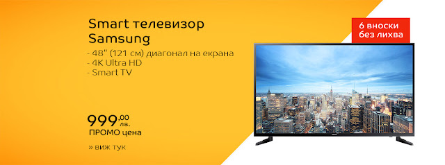 "Телевизор LED Smart Samsung, 48""(121cм), 48JU6000, 4K Ultra HD"