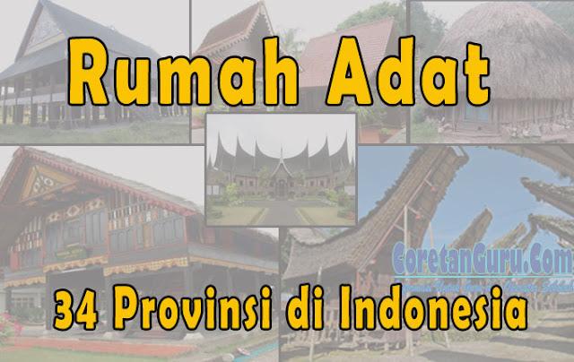 gambar Rumah Adat 34 Provinsi di Indonesia Lengkap dan Asalnya