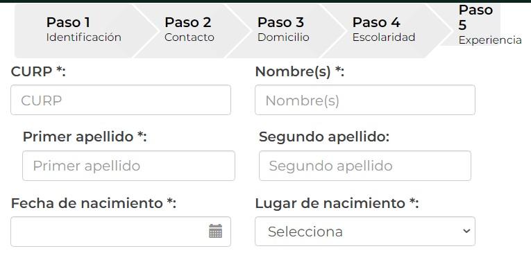 Formato de registro del Trabajador