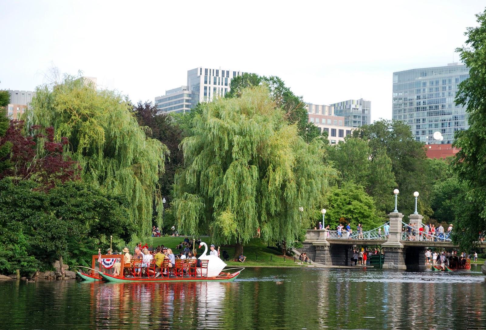 swan boat boston public garden itinerary plan guide tourism usa america park east coast