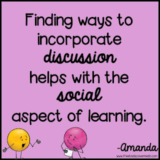 finding ways to incorporate discussion helps the social aspect of learning