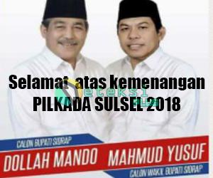 Selamat atas kemenangan Pilkada Sulsel 2018