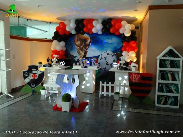 Decoração provençal time de Futebol para festa de aniversário infantil