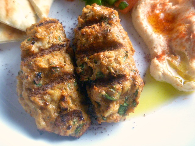Grilled Chicken Kofta:  ender flavor-packed grilled chicken kofta, filled with fresh herb & spices, will be on the table in under 45 min.  The perfect summer Mediterranean dish! - Slice of Southern