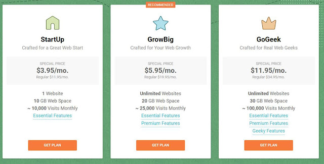 siteground shared hosting plan